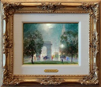new york city nocture, washington square park [sold] by johann berthelsen